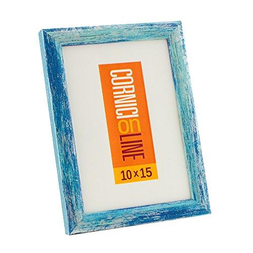 Cornice in Legno 265 Blu da Parete 30x40