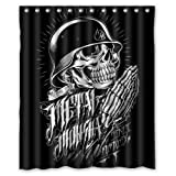 Custom Metal Mulisha Shower Curtain 60' x 72'- Bathroom Decor(Fabric)