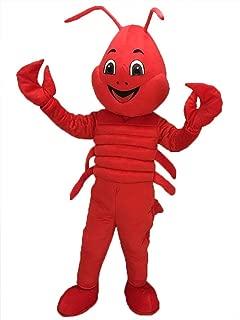 Lobster Mascot Costume Cartoon Christmas Halloween Dress Suit Adult