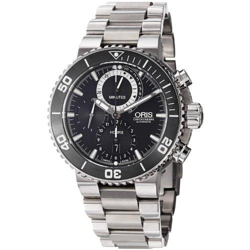 Oris Men's 01 674 7655 7184-Set Carlos Coste Black Dial Watch