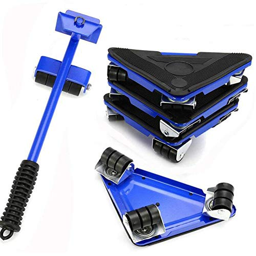 HKDJ-Meubilair Lifter Transport Tools Set,1 Hefstang En 4 Meubilair Slides,Verplaatsen tot 150 KG/330 LBS,Perfect voor Kledingkast/Wasmachine/Droger/Sofa