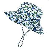 XIAOHAWANG Baby Sun Hats for Boys Toddler Girl Bucket Wide Brim UPF 50+ Sun Protection Summer Beach Caps Kids Fishing Hat (Dinosaurs,L)