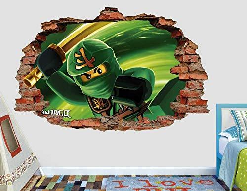 Pegatinas de pared pared fantasma decoración de la etiqueta rota etiqueta engomada del arte 3d de vinilo