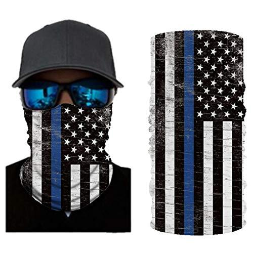 VCOROS 3D Bandana Face Mask Seamless Balaclava For Men Women Bike Riding Motorcycle Fishing Hunting Cycling Multifunctional Face Cover (AC118 USA Flag)