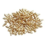 Yibuy 100 Piece Gold Plated PCB Probes Mold Part Pin Pogo Pin 1mm Pin