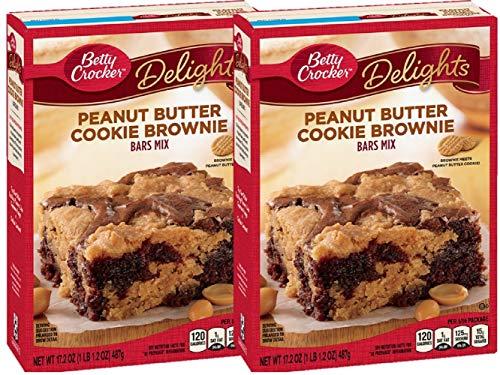 Betty Crocker Delights Mix Peanut Butter Cookie Brownie Bar Mix 172 Oz 2 Pack