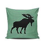 KAQIU Home Decoration Throw Federa Verde Friends Forever Custom Pillow Case Cuscino Fashion Design Chic a Doppio Lato Stampato Europeo Dimensioni Pollici Lodge 16'x16' Multi 10