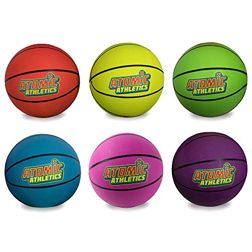 Buy Set of 6 Different Color Regulation Size Neon Basketballs - Includes Bonus Mess Bag!
