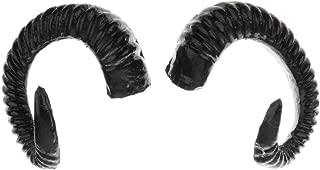 Artificial Sheep Ram Horns Costume Ram Horns Headband for Halloween Cosplay Costume - Black
