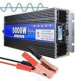 JHKJ-Inverter Wechselrichter 5000W Spannungswandler DC 12V 24V 48V 60V zu AC 230V Reiner Sinus Wechselrichter Spannungswandler,12v