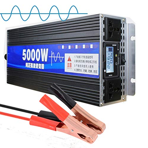 JHKJ-Inverter Wechselrichter 5000W Spannungswandler DC 12V 24V 48V 60V zu AC 230V Reiner Sinus Wechselrichter Spannungswandler,48v
