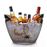 RERXN Champagner-Eimer / Eiskübel / Weinkühler, Acryl, groß, Schwarz / Transparent