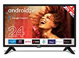 "Cello ZG0242 24"" Smart Android TV with Freeview Play, Google Assistant, Google Chromecast, 3 x HDMI and 2 x USB 