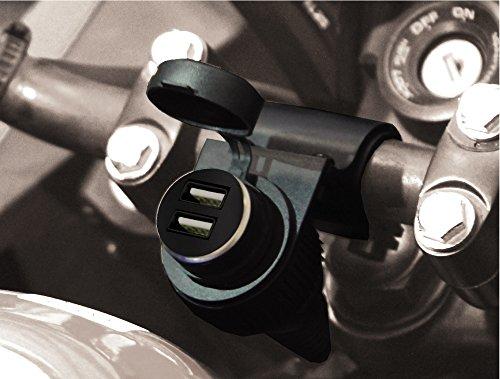 BC Battery Controller 710de s12u sbdual Agua Densidad bordsteck lata/encendedor de cigarrillos hembra con soporte para manillar para motocicleta