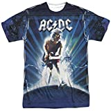 AC/DC Rock Band Music Group Angus Young and Lightning - Camiseta con impresión frontal para adulto - Multi color - XX