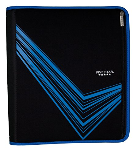 """Five Star 2"""" Zipper Binder, Removable Pencil Pouch Included, Xpanz Blue (73784)"""