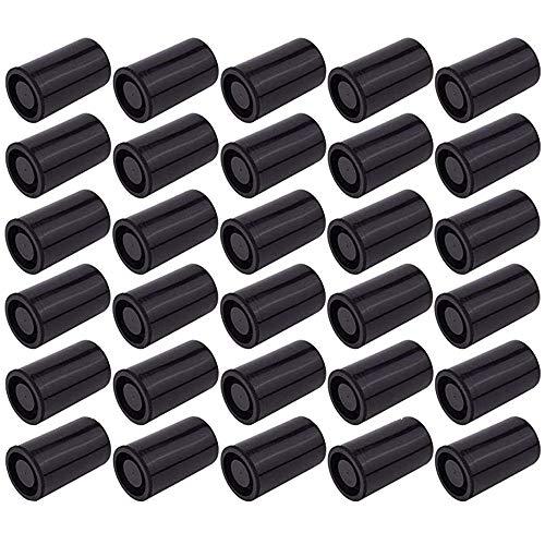 Guanici 30 Stück Filmdosen Geocaching Filmdosen Filmdosen mit Deckel Filmdose Wasserdicht Kunststoff leer Behälter 33mm im Durchmesser für Kleinteile Geocaching Duftmemory Samenaufbewahrung (Schwarze)