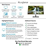 HP 27f 27-inch 4K-UHD (3840 x 2160) Height Adjustable IPS Monitor with HDMIx2, VGA, AMD Free Sync, 300 nits - 5ZP66AA (Black)