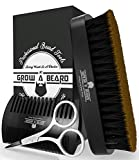 Beard Grooming and Care Kit for Men, Great Set Presented in Black Cardboard Gift Box