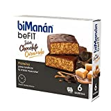 BiManán beFIT - Barritas de Proteína Sabor Chocolate Caramelo, para Tonificar tu Masa Muscular - Caja de 6 unidades