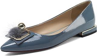 Nine Seven Women's Leather Pointtoe Flat Heel Pump