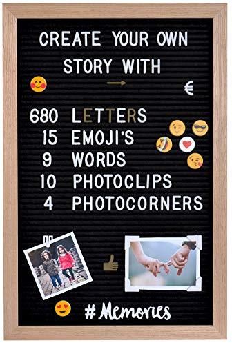 Gadgy ® Fieltro Letter Board + 15 Emojis