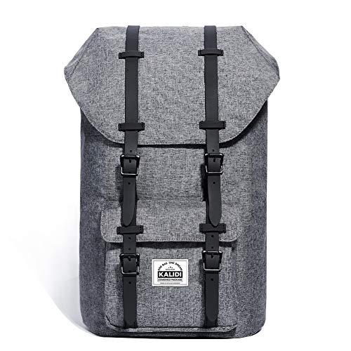 KALIDI 17 Inch Stylish Laptop Backpack Rucksack Outdoor Travel Hiking Backpack Schoolbag for Men and Women Fits 15'-15.6' Laptop/Notebook (Deep Grey)