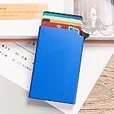 ZCPDP RFID Anti-Diebstahl-Brieftasche Smart Thin...