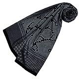 LORENZO CANA High End quadrato XL Lusso panno di cotone combinato con seta 110x 110cm fibra naturale marchio sciarpa foulard Paisley Houndstooth