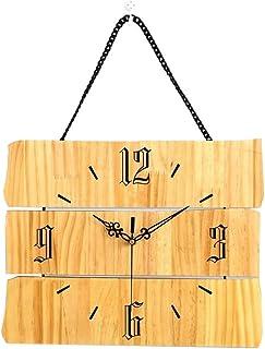 Wall Clock الحد الأدنى الحديث ساعة الحائط مستطيل 37.8x45.5 سم كتم ساعة كتم ساعة خشبية Decorative Clock