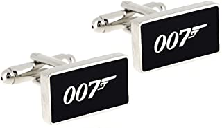 SS Black 007 James Bond Cufflinks for Men