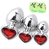 3 pezzi/set cuore metallo cristallo Ànâl Pl'ûg impermeabile acciaio inossidabile Ànâl Bûtt Pl'ûgs Trainer Set per donne e uomini per principianti con 2 dadi