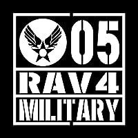 ミリタリー RAV4 ラヴフォー カッティング ステッカー ホワイト 白
