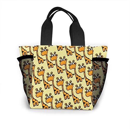 N/A Jongens Meisjes Geïsoleerde Neopreen Lunch Bag - Kleine Giraffe Tote Handtas Lunchbox Voedsel Container Pouch Voor School Werk Kantoor