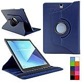 COOVY® 2.0 Cover für Samsung TAB S3 9.7 SM-T820 SM-T825 Rotation 360° Smart Hülle Tasche Etui Hülle Schutz Ständer Auto Sleep/Wake up   dunkelblau