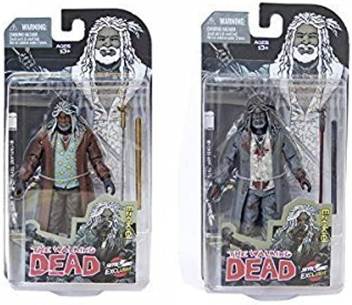 Descuento del 70% barato SDCC 2014 Exclusive The The The Walking Dead Ezekiel Full Color and negro & blanco Blood Splatter Figures by Walking Dead  diseño único