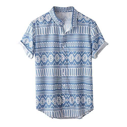 Camisas Hawaianas Hombre Manga Corta 2020 SHOBDW Playa de Verano Camisas Hombres Baratas Tallas Grandes Botón Cuello de Solapa Blouse Tops Casual Camisas Hombres Estampadas Flores