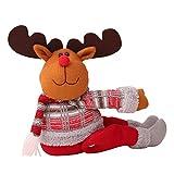 Sue-Supply 2019 El Más Nuevo Lindo Papá Noel Muñeco De Nieve Elk Cortina Hebilla Cortina Tieback para La Decoración De La Ventana De Navidad En El Interior