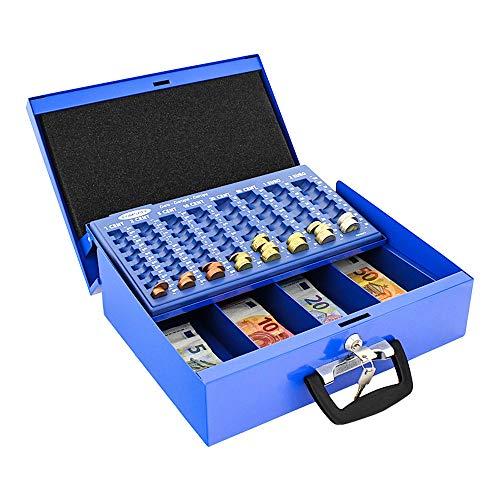 Profirst Dori Geldkassette Blau aus SM-Stahlblech