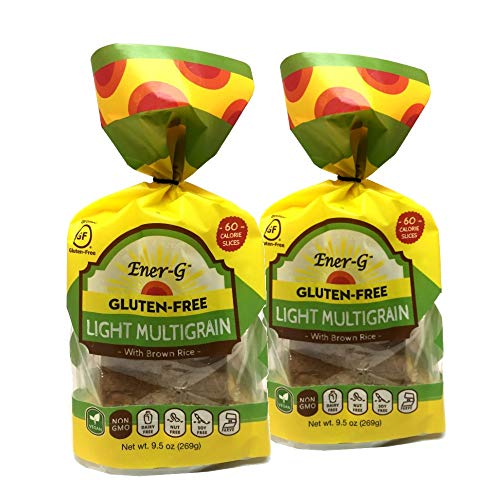 Light Multigrain Gluten Free Bread by Ener-G | Vegan Sliced Bread Loaf | Low-Calorie, Low-Carb, Low-Fat | Non-GMO, Kosher | Double Pack-8 oz/ 10 Slice Loaf