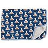 KicKee Pants Sherpa-Lined Toddler Blanket, Ultra Plush Sherpa Blanket, Made from Viscose from Bamboo Fabric, Ultra Luxurious Sherpa Fleece, Baby and Kid (Navy Goldfish Prize - One Size)