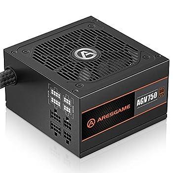ARESGAME 750W Power Supply Semi Modular 80+ Bronze PSU  AGV750