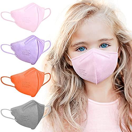 FFP2 Maske CE Zertifiziert, FFP2 Maske Kleine Größe, Masken Mundschutz, FFP2 Maske Bunt, FFP2 Maske Farbig, Bunte FFP2 Masken FFP2 Rosa Grau Lila Orange, Gesichtsmaske Einzeln Verpackt 20 Stück