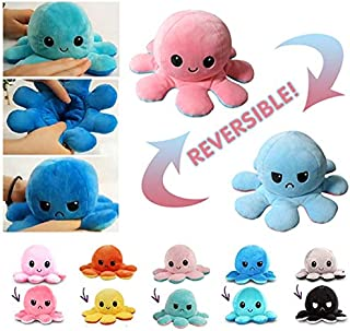 ZOUJIN Reversible Bipolar Teeturtle Octopus Toy Plush Teeturtle Mood Switcher Doll Gift for Children Family Christmas (Col...