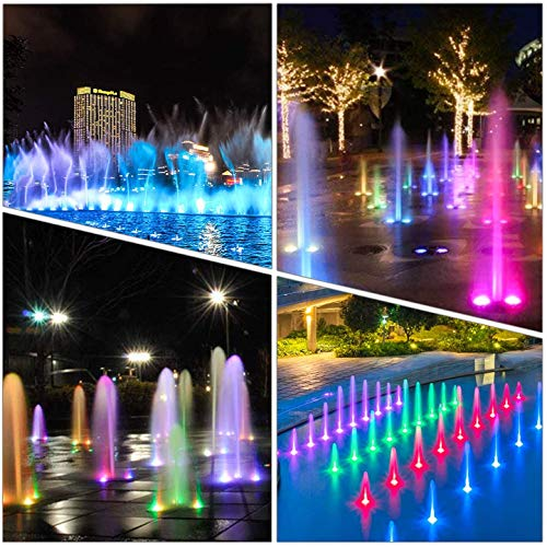 Submersible Led Lights Waterproof Multi-color with Remote Control UNPAD Underwater Battery Lights for Party,Wedding,Fish Tank,Vase Base,Pond,Pool,Hot Tub(4Pack-21Key)