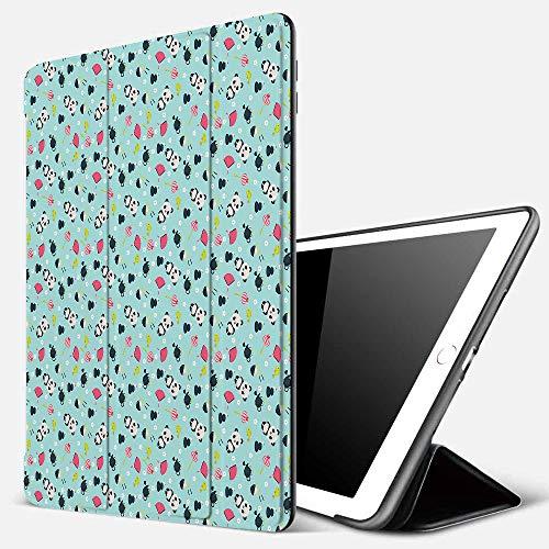 iPad 7 Hülle für iPad 10.2 2019,Asian, Panda Bears Koi Fishes Essstäbchen Tee und Ricebowl Japanische fernöstlic,Ultradünne Soft TPU Rückseite Abdeckung Schutzhülle mit,Automatischem Schlaf/Aufwach,