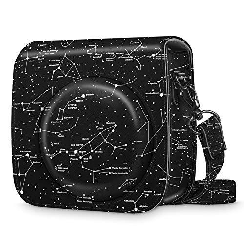 Fintie Funda para Fujifilm Instax Mini 9 / Mini 8+ / Mini 8 - Bolsa Protectora para Cámara Instantánea Cuero Sintético de Primera Calidad con Correa Desmontable, Constelación