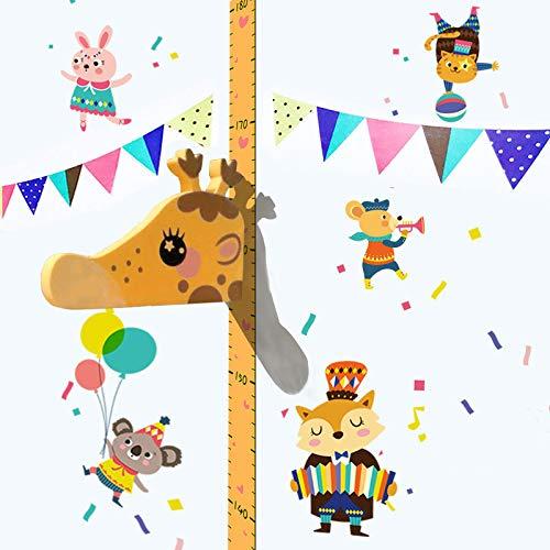 Regla de altura para cuadro de crecimiento de jirafa, regla graduada para toldo 3D, soporte para escritura tamaño reposacabezas extraíble EVA portátil, pegatinas de pared para habitación de niños