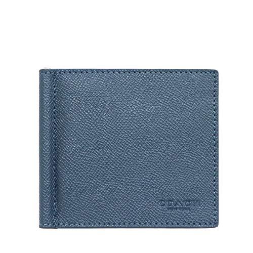 [コーチ] COACH 財布(二つ折り財布) F23847 デニム クロスグレーン レザー ビルフォールド マネークリップ ウォレット メンズ [アウトレット品] [ブランド] [並行輸入品]