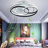 Ventilador de techo iluminación Ventilador LED moderna Regulable Viento/Fuente Luz de techo ajustable control remoto ultra silencioso Lámpara de techo Sala estar Dormitorio Lámpara colgante,53cm